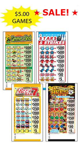 Fly So High 5 Tab Pull Tab 1 Dollar Game Ticket-Pack of 2 Games Non-Redeemable