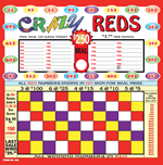 Crazy Reds Punch Board
