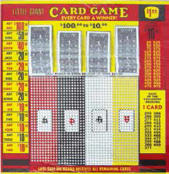 Dollar Card Game Punch Board
