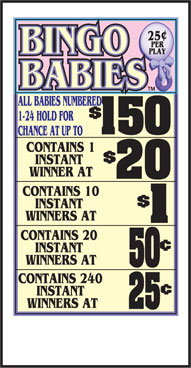 Bingo Babies Seal Cards