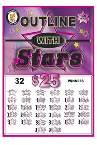 Outlines With Stars Jar Tickets