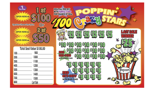 Poppin Crazy Stars Jar Tickets