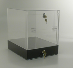 Clear Pull Tab Box with Lock