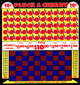 1200 Pluck a Cherry 10cent Punch Board