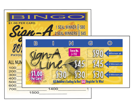 Bingo Sign A Line Seal Cards